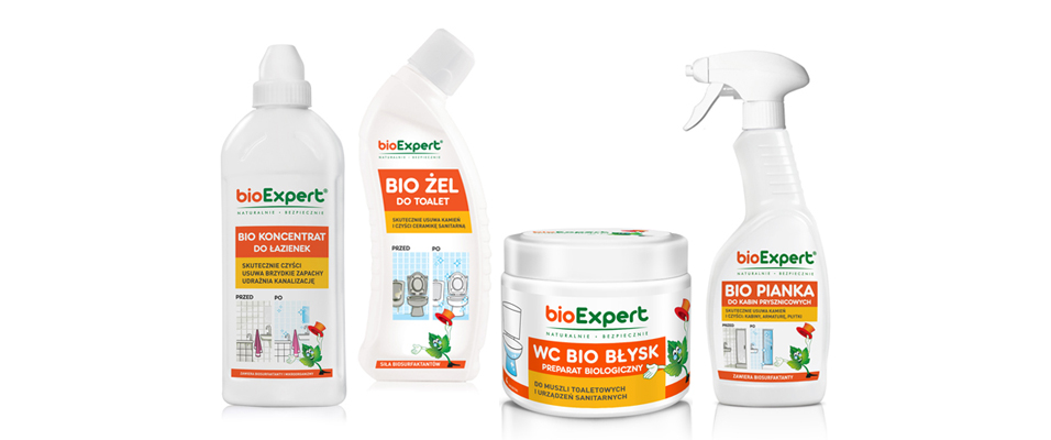 naturalne środki czystości bioExpert - bez chemii  ichloru