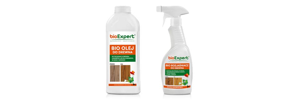 zestaw do pielęgnacji drewna bioExpert - olej do drewna + rozjaśniacz